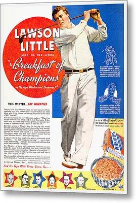 Cereal Advertisement, 1937 Metal Print by Granger