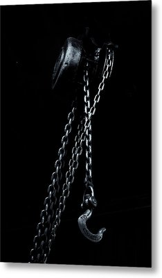 Metal Print featuring the photograph Chain And Hook by Tom Singleton