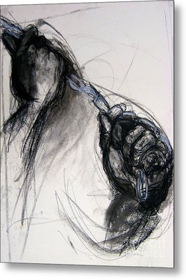 Metal Print featuring the drawing Chain by Gabrielle Wilson-Sealy