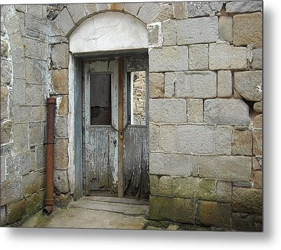 Metal Print featuring the photograph Chained Doors by Christophe Ennis