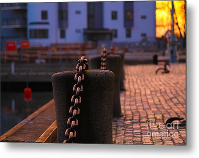 Chains Metal Print by Miso Jovicic