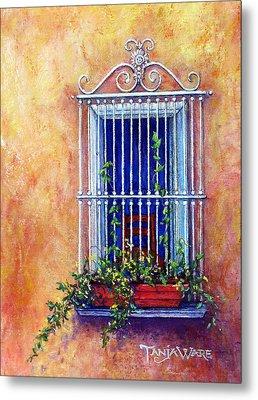 Chair In The Window Metal Print by Tanja Ware