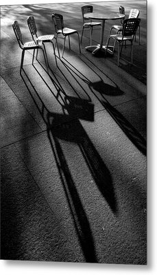 Chairs And Shadows Metal Print by Steven Ainsworth