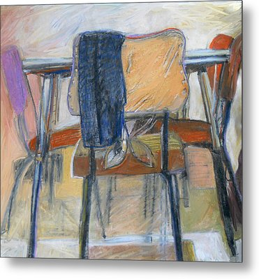 Chairs Metal Print by CD Good