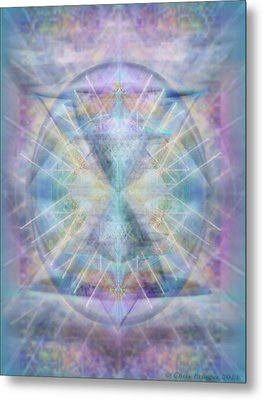Chalice Of Vorticspheres Of Color Shining Forth Over Tapestry Metal Print