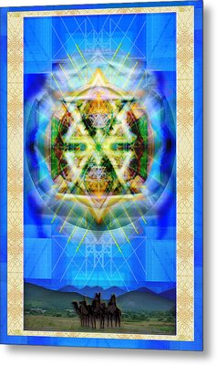 Metal Print featuring the digital art Chalice Star Over Three Kings Holiday Card Xbbrtiii by Christopher Pringer
