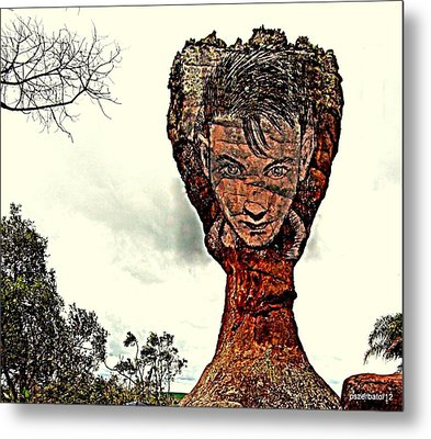 Chalice Symbolically Eroded By The Wind Of The Thoughtlessnes Metal Print by Paulo Zerbato