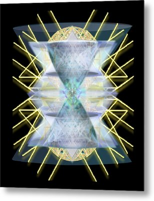 Metal Print featuring the digital art Chalices From Pi Sphere Goldenray IIi by Christopher Pringer