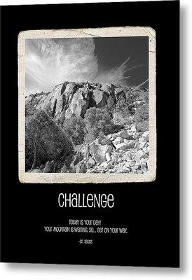 Challenge Metal Print by Bonnie Bruno