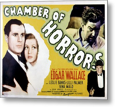 Chamber Of Horrors Aka Door With Seven Metal Print by Everett