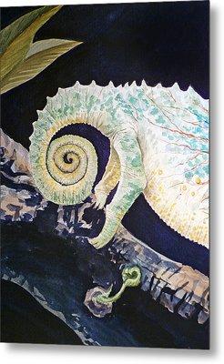 Chameleon Tail Metal Print