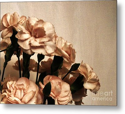 Champaign And Flowers Metal Print by Marsha Heiken