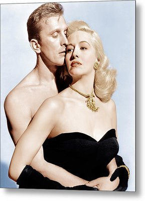 Champion, From Left Kirk Douglas Metal Print by Everett