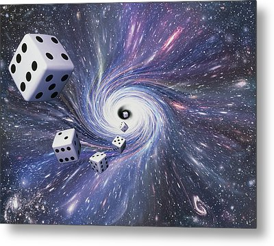 Chance In The Universe Metal Print by Mehau Kulyk