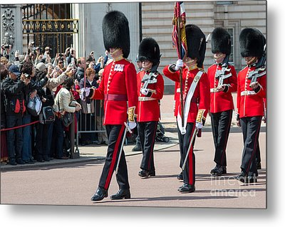 Changing Of The Guard At Buckingham Palace Metal Print by Andrew  Michael