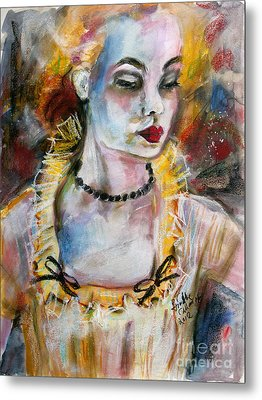 Chantalle And Her Sheer Blouse Metal Print by Ginette Callaway