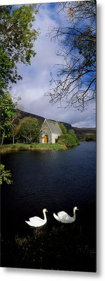 Chapel At Gougane Barra, Co Cork Metal Print
