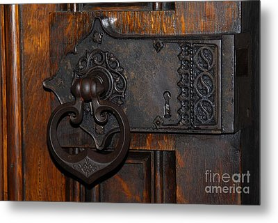 Metal Print featuring the photograph Chapel Door by Cindy Manero