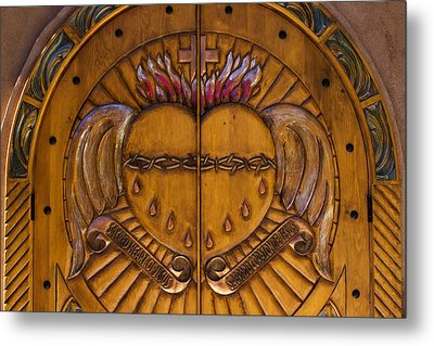 Chapel Doors Metal Print by Carol Leigh