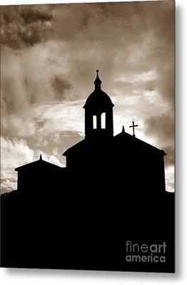 Chapel Silhouette Metal Print by Gaspar Avila