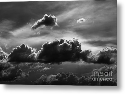 Charcoal Clouds Metal Print by Erica Hanel