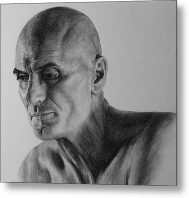 Charcoal Portrait Metal Print
