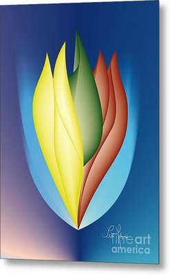 Metal Print featuring the digital art Charisma by Leo Symon