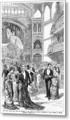 Charity Ball, 1880 Metal Print by Granger