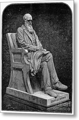 Charles Darwin (1809-1882) Metal Print by Granger