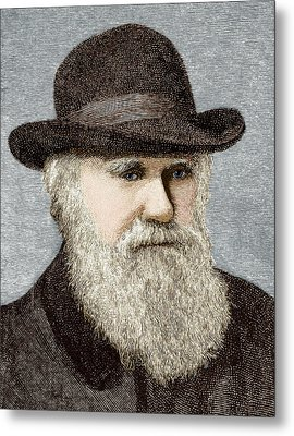 Charles Darwin, British Naturalist Metal Print by Sheila Terry