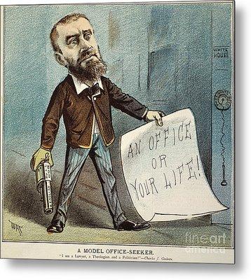 Charles Guiteau Cartoon Metal Print by Granger