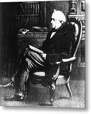 Charles Lyell, English Geologist Metal Print by Science Source