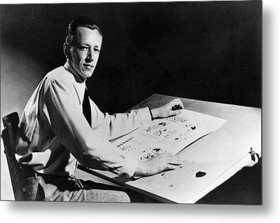 Charles M. Schulz, 1922-2000, American Metal Print by Everett