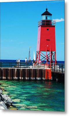 Charlevoix Light Metal Print by Janice Adomeit