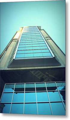 Charlotte Offices Metal Print by Kenneth Mucke