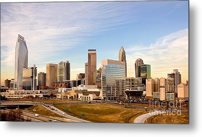 Charlotte Skyline At Daylight Metal Print by Patrick Schneider