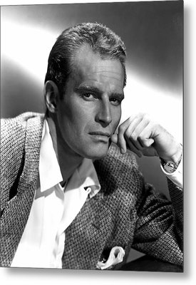 Charlton Heston, 1950s Metal Print by Everett