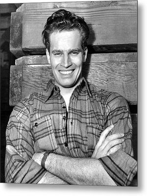 Charlton Heston, Paramount Pictures Metal Print by Everett