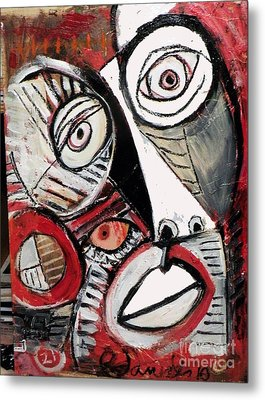 Chasing Picasso Metal Print by Robert Daniels