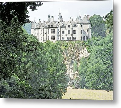 Metal Print featuring the drawing Chateau De Walzin Belgium by Joseph Hendrix