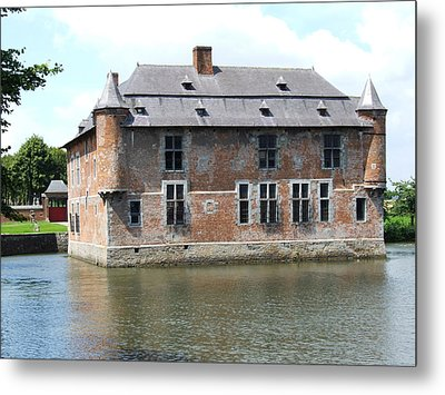 Metal Print featuring the photograph Chateau Feodal De Fernelmont Belgium by Joseph Hendrix