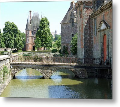 Metal Print featuring the photograph Chateu Carrouges Normandy France  by Joseph Hendrix