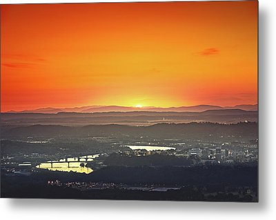 Chattanooga Sunrise Metal Print by Steven Llorca