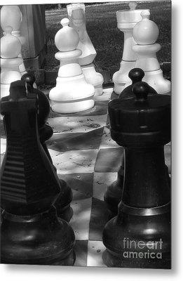 Checkmate Metal Print by Jennifer Sabir