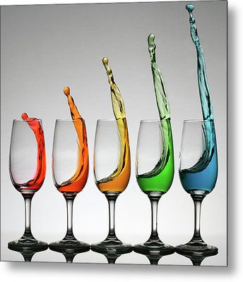 Cheers Higher Metal Print