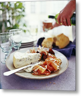 Cheese And Ham Meal Metal Print by David Munns