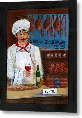 Chef At Days End Metal Print by Marilyn Dunlap