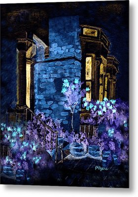 Chelsea Row At Night Metal Print by Paula Ayers