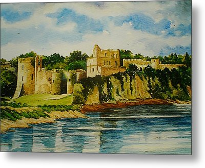 Chepstow Castle  Wales Metal Print by Andrew Read