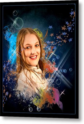 Cheree In Bubbles Metal Print by Ronel Broderick